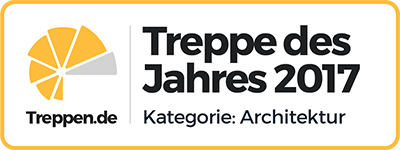 Museumstreppe aus Stahl und Holz